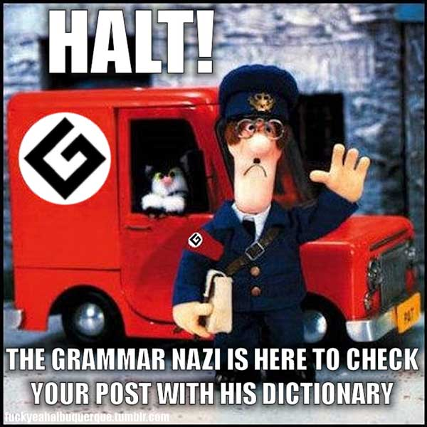 When Grammar Nazis Aren't So Bad